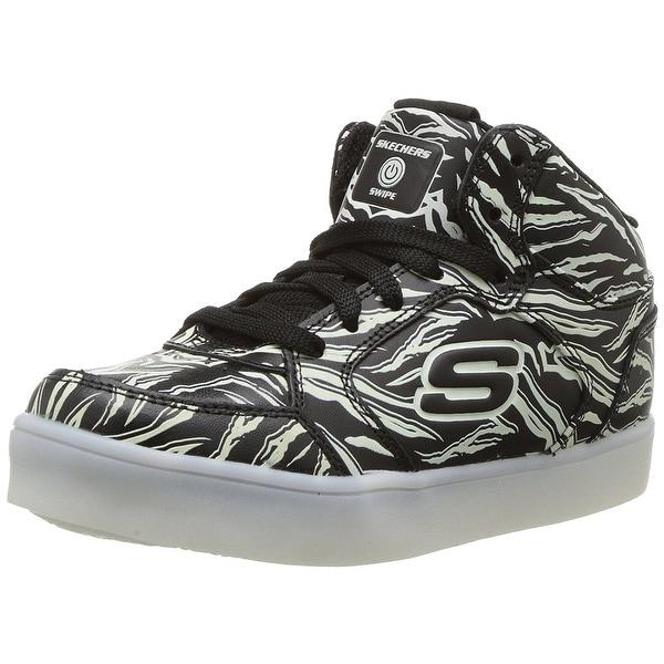 cfcd946db0b3 Shop Kids Skechers Boys 90606L Hight Top Lace Up Skateboarding Shoes ...