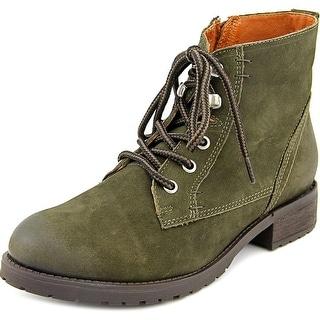 Steve Madden Gobbin Women Round Toe Leather Green Ankle Boot