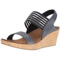 Skechers Womens beverlee Closed Toe Casual Platform Sandals - 10