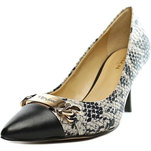 bdd00b99f73 Shop Coach Women s Bowery - chalk black snake matte calf - Free ...