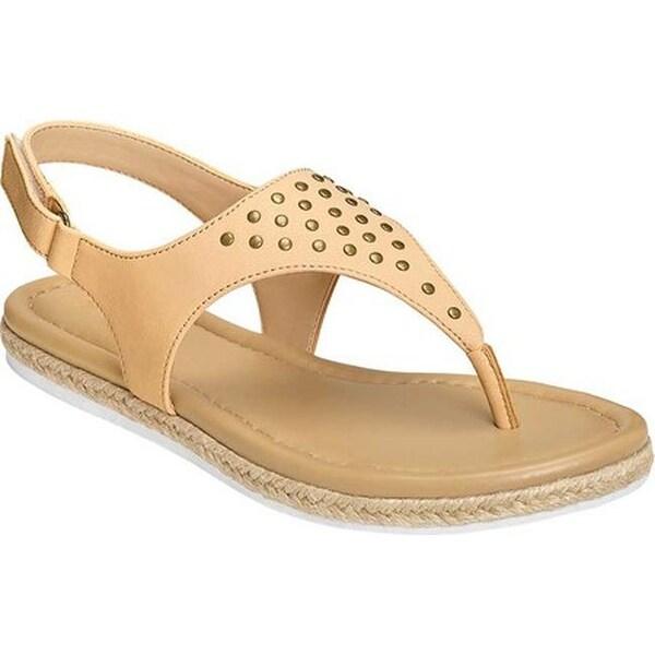 028c540f35a7 A2 by Aerosoles Women's Bass Drop Thong Sandal Bone Faux Leather