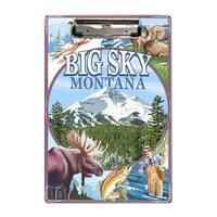 Big Sky, Montana - Montage Scenes - LP Artwork (Acrylic Clipboard)