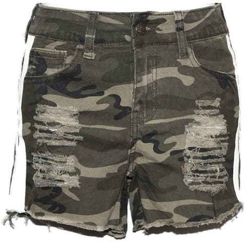 Camouflage Women high Waist Very Sexy and Stylish Distress Mini Shorts Pants S - Small
