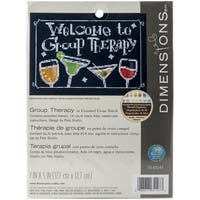 """Group Therapy Mini Counted Cross Stitch Kit-7""""X5"""" 14 Count"""
