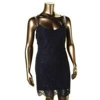 Lauren Ralph Lauren Womens Catania Tank Dress Lace Scalloped Hem