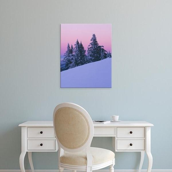 Easy Art Prints Charles Gurche's 'Dusk On Mt Bachelor' Premium Canvas Art