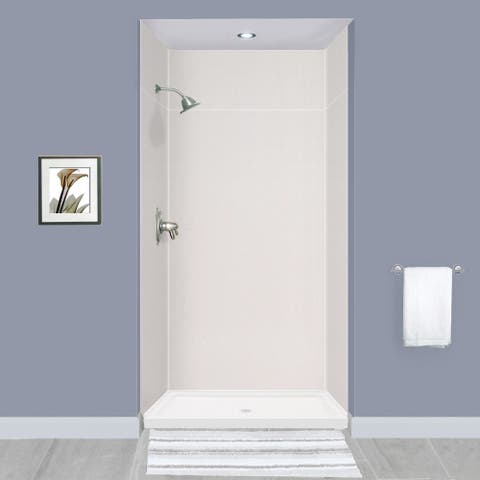 """Transolid Expressions 36-in X 48-in X 96-in Glue to Wall Shower Walls - 48"""" x 36"""" x 96"""" - 48"""" x 36"""" x 96"""""""