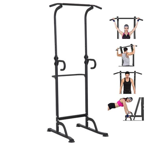 Multi-Function Indoor Power Tower Pull Up Dip Station Gym Equipment Stable Exercise Fitness - Medium