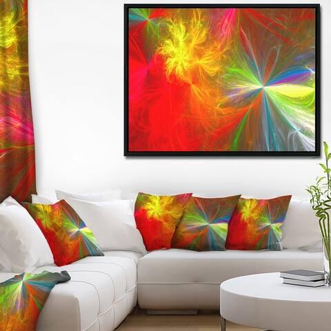 Designart 'Colorful Christmas Spectacular Show' Abstract Framed Canvas Art Print