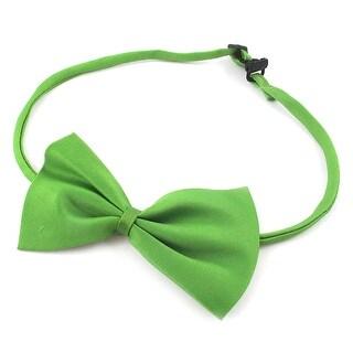 Unique Bargains 2 Pieces Adjustable Strap Pet Dog Puppy Cat Collar Bow Tie Green