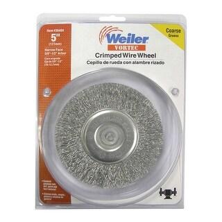 """Weiler 36404 Coarse Crimped Wire Wheel, 5"""""""