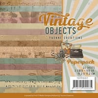 """Find It Trading Yvonne Creations Paper Pack 6""""X6"""" 23/Pkg-Vintage Objects, Double-Sided Designs"""
