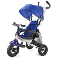 Gymax 6-In-1 Kids Baby Stroller Tricycle Detachable Learning Toy Bike w/ Canopy Bag
