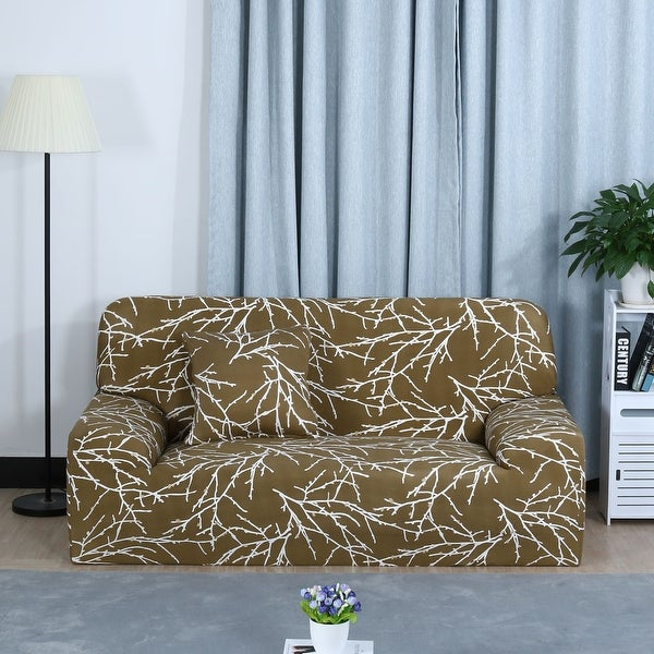 Shop Stretch Sofa Cover Chair Loveseat Couch Slipcovers