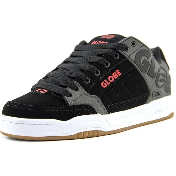 Globe Tilt Men Round Toe Leather Black Skate Shoe