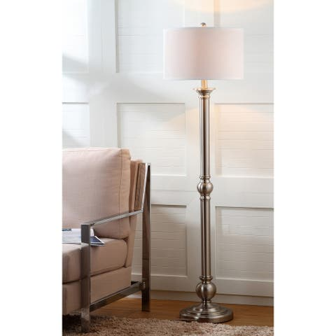 "Safavieh Lighting 60-inch Theo Nickel Floor Lamp - 16""x16""x60"""