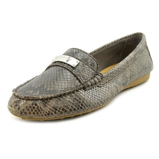 Coach Fredrica Women Round Toe Leather Gray Loafer