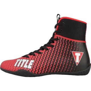 Title Boxing Predator II Lightweight Mid-Length Boxing Shoes - Red/Black