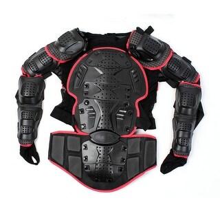 XXL Red Full Body Armor Shirt Motorbike Protector Jacket Motocross Back Shoulder