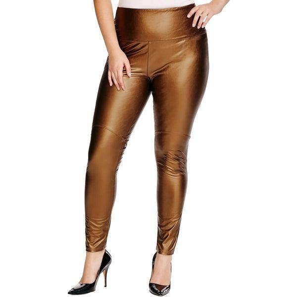 7b949cc7ad2c1 Shop Lysse Womens Plus Leggings Vegan Leather High Waist - Free ...