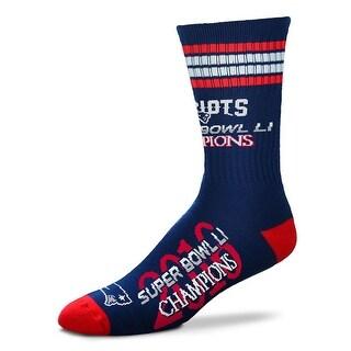 New England Patriots Super Bowl LI Champions Deuce Socks