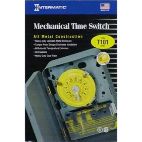 Intermatic T101 Indoor Time Switch Timer, 120 Volt, Gray