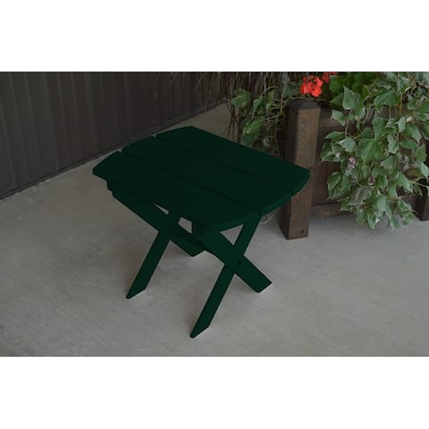Pine Folding Oval End Table
