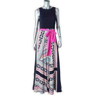 Eliza J Womens Matte Jersey Pattern Maxi Dress - 10