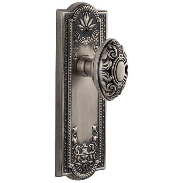 Grandeur PARGVC_DD_NA Parthenon Solid Brass Rose Dummy Door Knob Set with Grande Victorian Knob