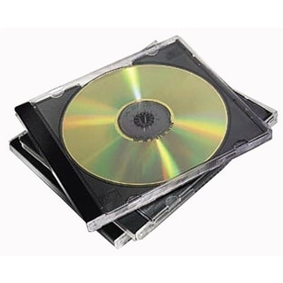 Fellowes, Inc. 98330s Fellowes 98330 NEATO Slim Jewel Cases, Clear/Black, 50-Pack