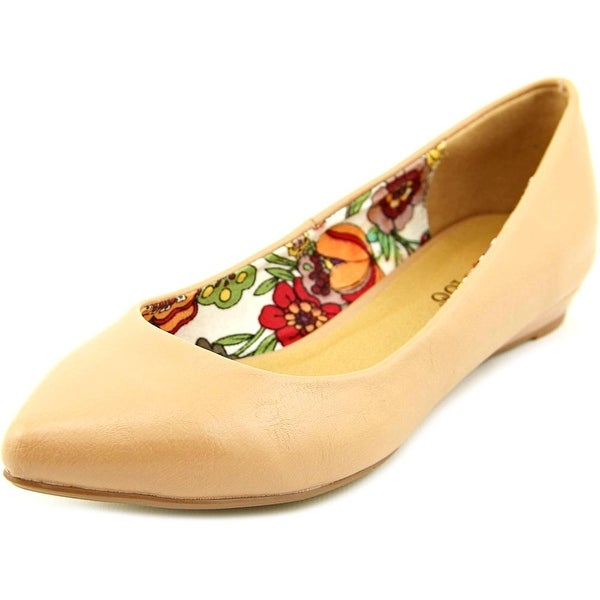 2 Lips Too Too Sunrise 14 Women Pointed Toe Synthetic Nude Flats