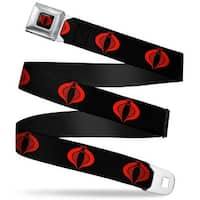 Gi Joe Cobra Logo Full Color Black Red Gi Joe Cobra Logo Black Red Webbing Seatbelt Belt
