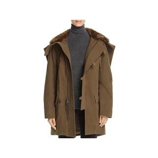 Vince Womens Parka Coat Winter Long - XS