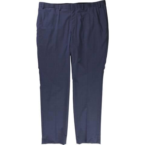 DKNY Mens Blue Fashion Dress Pants Slacks, Blue, 34W x 32L