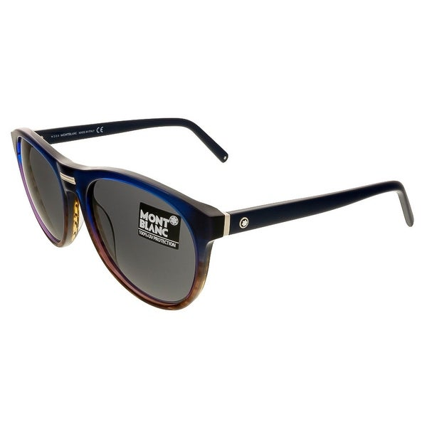 Montblanc MB506/S 92A Navy Gradient Round Sunglasses - navy gradient