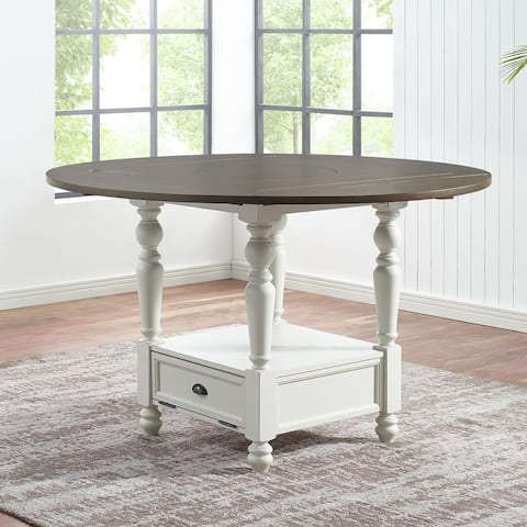Jillian Round Counter Height Drop Leaf Dining Table by Greyson Living