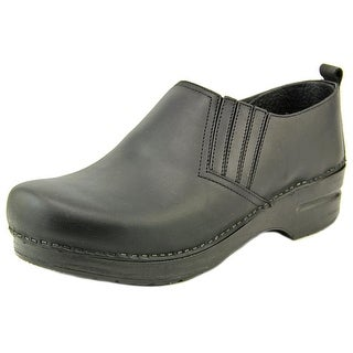 Dansko Piet Oiled Women Round Toe Leather Black Clogs