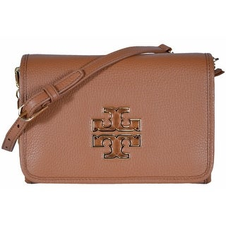 Tory Burch 31159880 Bark Tan Leather Britten Combo Crossbody Purse Bag