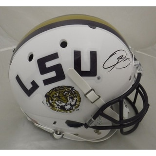 Odell Beckham Autographed LSU Tigers Full Size White Replica Helmet JSA