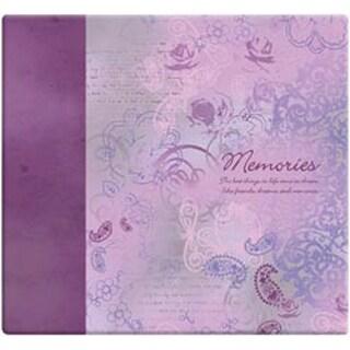 """Memories - Purple - Inspirations Post Bound Paper Scrapbook 12""""X12"""""""