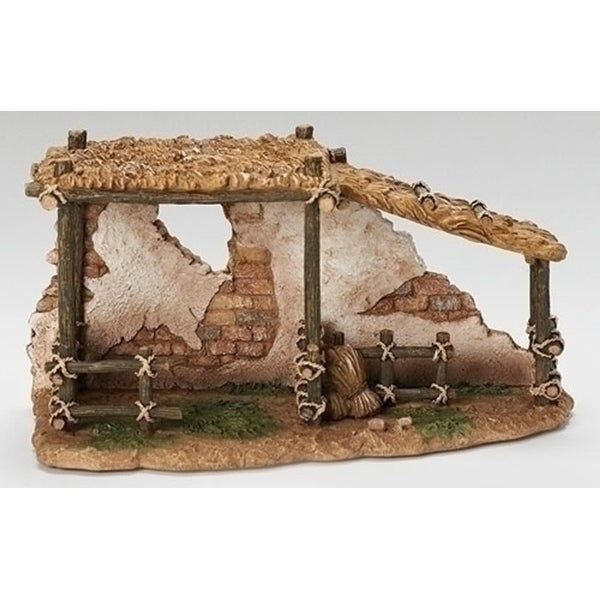 "10.25"" Fontanini 5.25"" Animal Corral Christmas Nativity Village Building #55575"