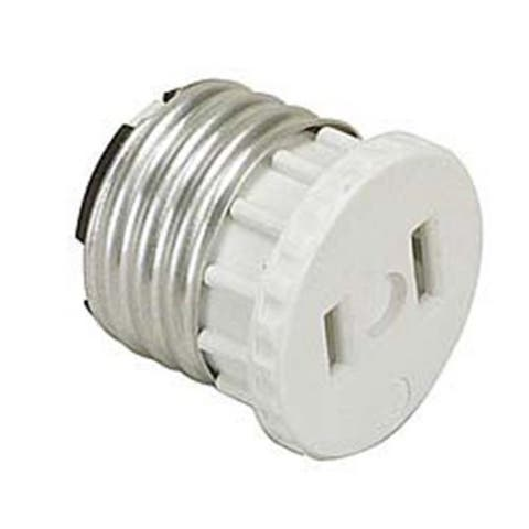 Leviton White Adapter Socket To Outlet 002-125