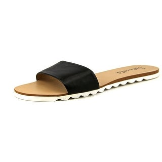 Splendid Paige Open Toe Leather Slides Sandal
