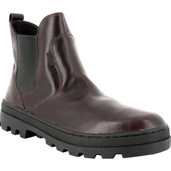 3dd1068cc53f1 Shop Palladium Women's Pallabosse L Chelsea Boot Regal/Black Leather ...