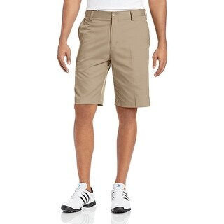 Adidas Men's Flat Front Khaki/Lead Shorts Z77151