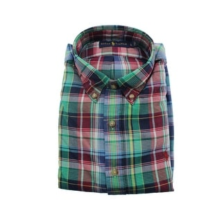 Ralph Lauren Mens Cotton Plaid Dress Shirt - L