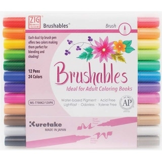 Shop Artiste Dual Tip Brush Markers 12/Pkg-Bright - Free