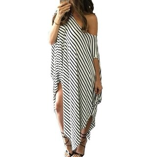 Soft & Loose Boho Off the Shoulder Maxi Dress