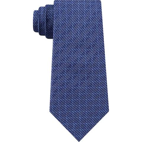 DKNY Mens Neck Tie Silk Grid - O/S