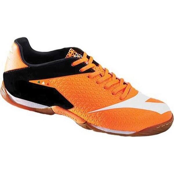 4f4ec535cec1 Shop Diadora Men s MW-Tech RB R Indoor Soccer Shoe Fluo Red Black ...